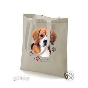 sac beagle en coton imprimé
